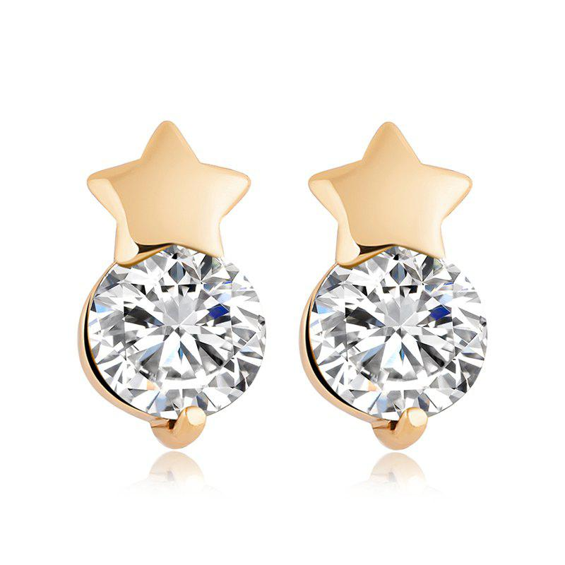 Five Star Earrings ERZ0143 - WHITE