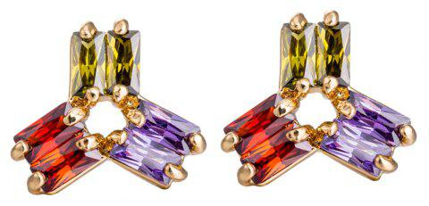 Personality Rotates Exquisite Zircon Earrings ERZ0162 - multicolor