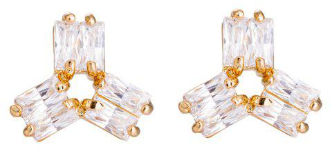 Personality Rotates Exquisite Zircon Earrings ERZ0162 - GOLD
