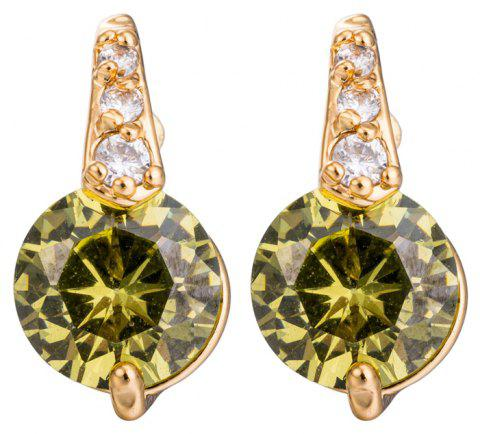 Fashion Micro Inlaid Fine Zircon Earrings ERZ0163 - FOREST GREEN