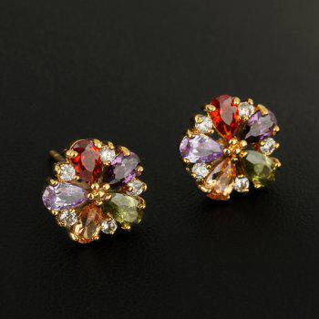Fashion Zircon Earrings ERZ0166 - multicolor