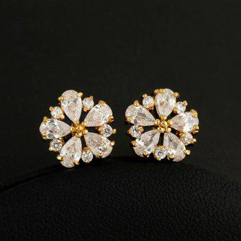 Fashion Zircon Earrings ERZ0166 - GOLD