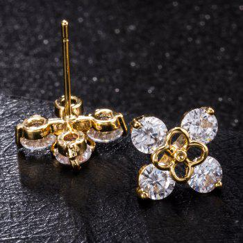 Personality Color Fine Zircon Earrings ERZ 0177 - WHITE