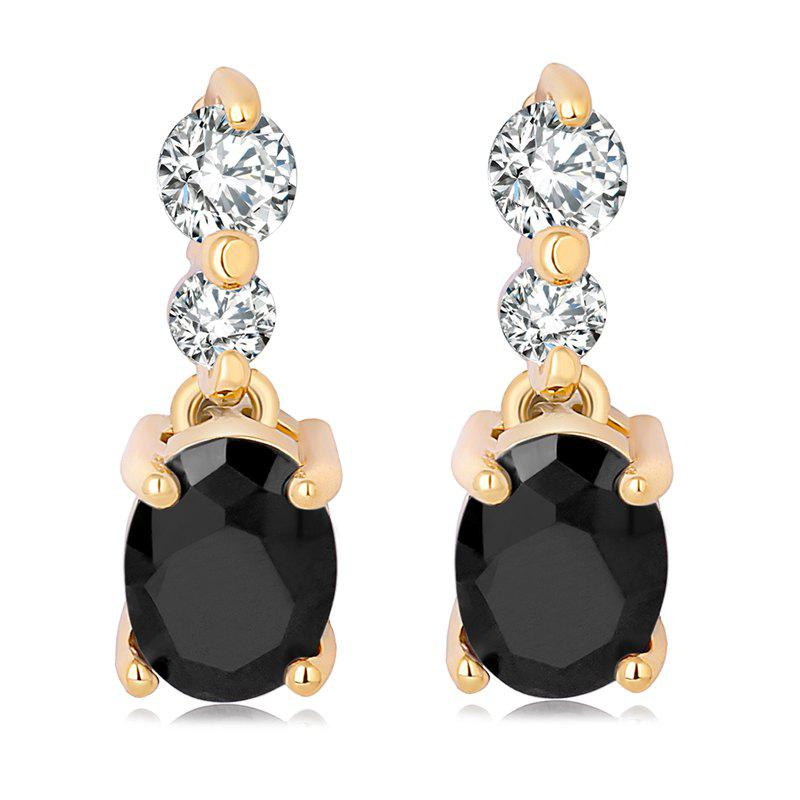 Fashion Simple Fine Zircon Earrings ERZ0185 - BLACK