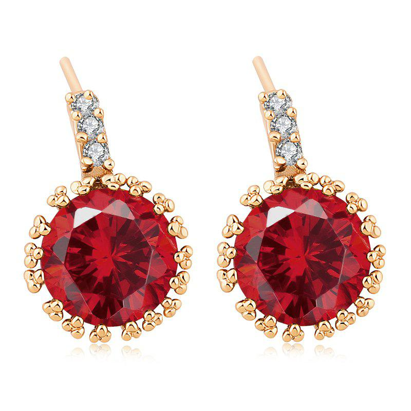 Fashionable Zircon Earrings ERZ0193 - RUBY RED