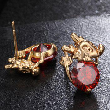 Lovely Little Mouse Exquisite Zircon Earrings ERZ0198 - RUBY RED