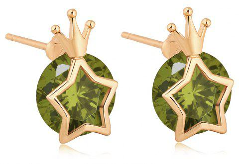 Fashionable Star Earrings ERZ0199 - FOREST GREEN