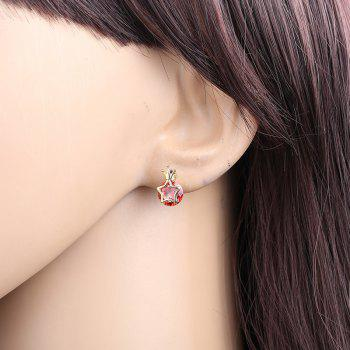 Fashionable Star Earrings ERZ0199 - RUBY RED