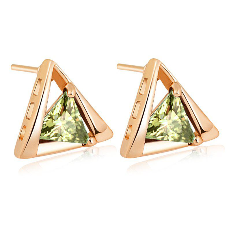 Personality Depends Fine Zircon Earrings ERZ0204 - FOREST GREEN