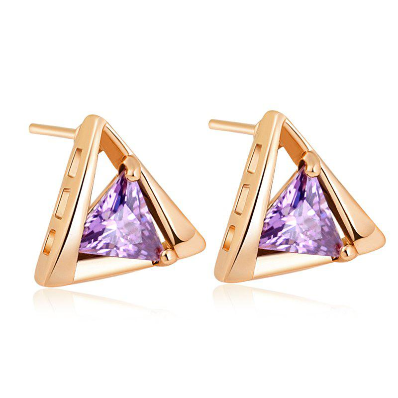 Personality Depends Fine Zircon Earrings ERZ0204 - PURPLE