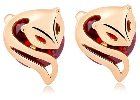 Fashionably Charming Little Fox Fine Zircon Earrings ERZ0210 - RUBY RED