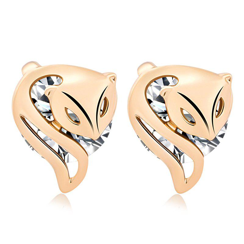 Fashionably Charming Little Fox Fine Zircon Earrings ERZ0210 - WHITE