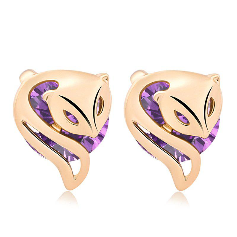 Fashionably Charming Little Fox Fine Zircon Earrings ERZ0210 - PURPLE