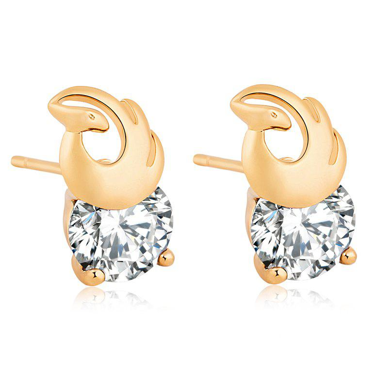 Dancing Phoenix Beautiful Zircon Earrings ERZ0214 - WHITE