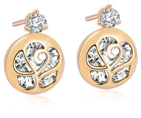 Character Envelope Fine Zircon Earrings ERZ0215 - WHITE