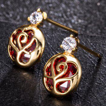 Character Envelope Fine Zircon Earrings ERZ0215 - RUBY RED