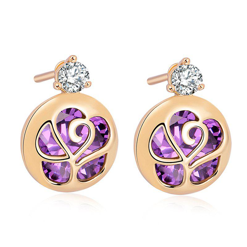 Character Envelope Fine Zircon Earrings ERZ0215 - PURPLE