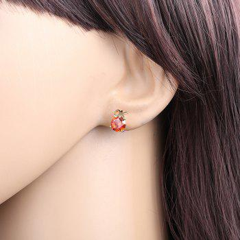 Simple Letters Exquisite Zircon Earrings ERZ 0217 - RUBY RED