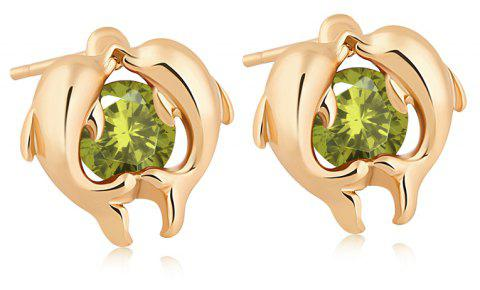 Dolphin Bay's Exquisite Zircon Earrings ERZ0220 - FOREST GREEN