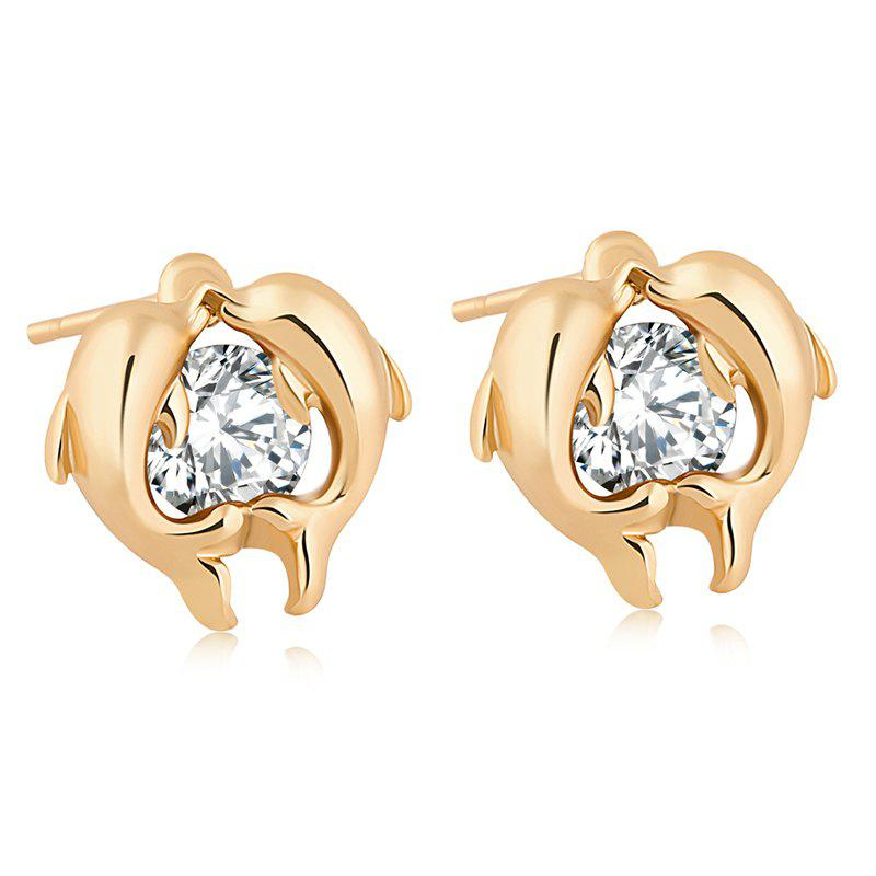 Dolphin Bay's Exquisite Zircon Earrings ERZ0220 - WHITE