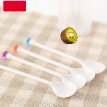 Creative Picnicware Plastic Dessert Spoon 8PCS  Picnic and Party Supplies - multicolor