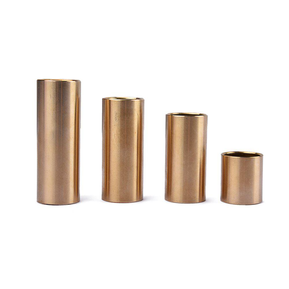 Brass Guitar Slide Brass Deslizante Guitarra Smooth Edge 4PCS - TIGER ORANGE