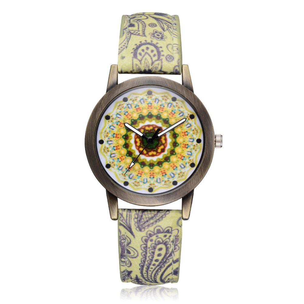 XR2439 Women Fashion Exotic Style Analog Quartz Leather Wrist Watch weiqin luxury gold wrist watch for women rhinestone crystal fashion ladies analog quartz watch reloj mujer clock female relogios