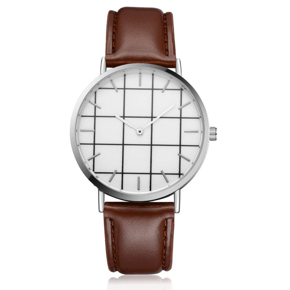 XR2438 Unisex Men Women PU Leather Hand Watch Wristwatches xiniu retro wood grain leather quartz watch women men dress wristwatches unisex clock retro relogios femininos chriamas gift 01