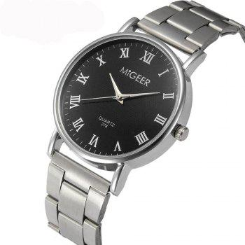 Migeer Fashion luxe affaires chiffres romains robe montre - Noir