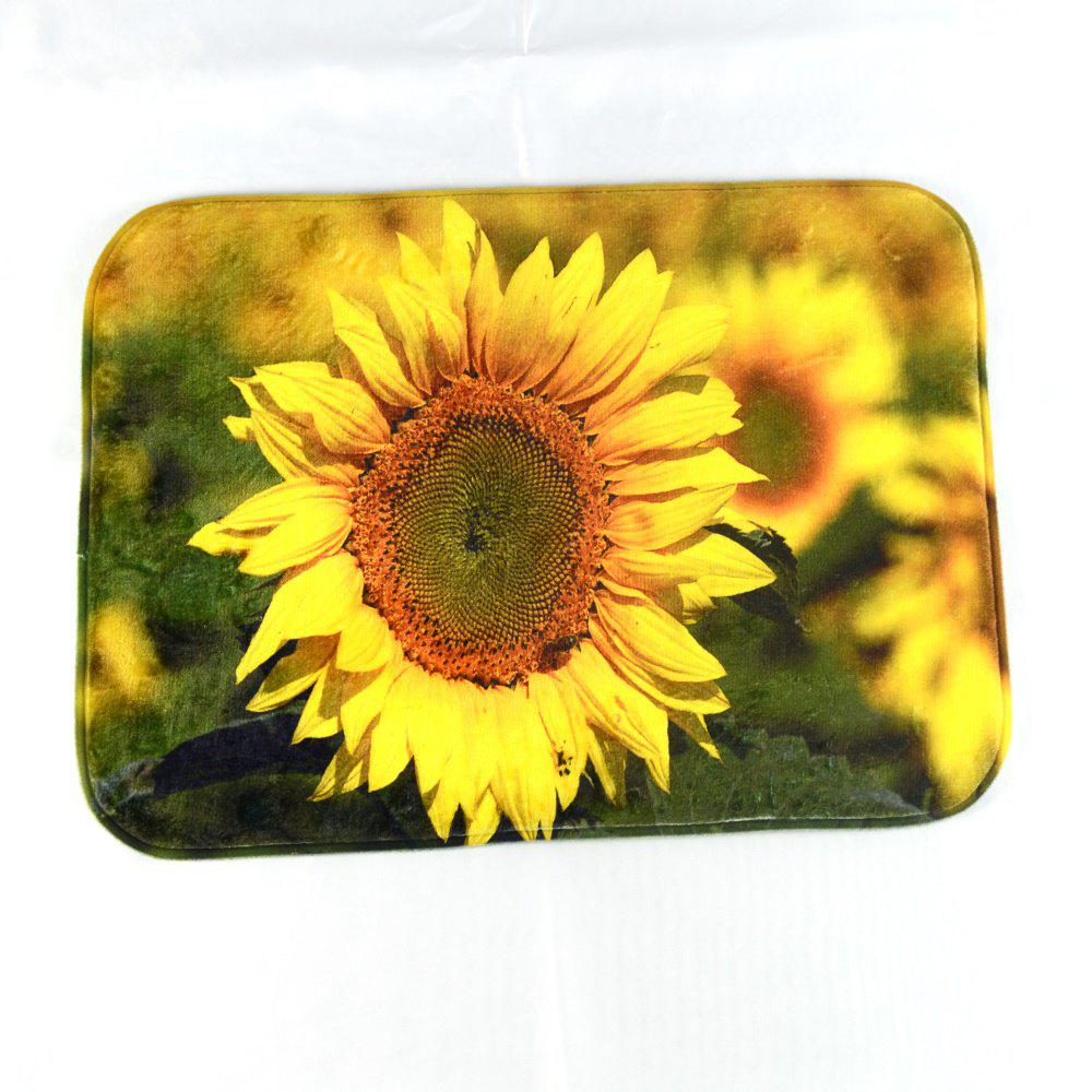 Sunflower Super Soft Non-Slip Bath Door Mat Machine Washable Quickly Drying wooden slippers super soft non slip bath door mat machine washable