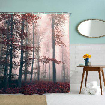 Mysterious Forest Water-Proof Polyester 3D Printing Bathroom Shower Curtain - multicolor A W71 INCH * L79 INCH