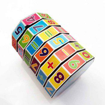 Cylindrical Six-order Rubik Cube Math Early Childhood Educational Toys - multicolor
