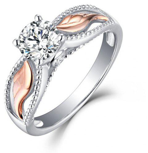 Artificial Diamond Wings Ring - WHITE US SIZE 7
