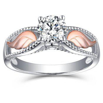 Artificial Diamond Wings Ring - WHITE US SIZE 8