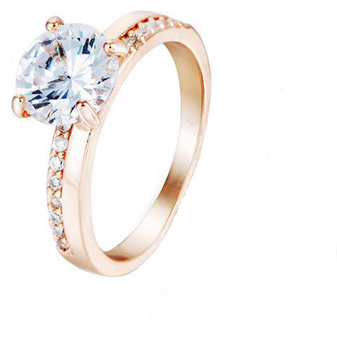 Crystal Micro Artificial Diamond Ring - PEACH US SIZE 7