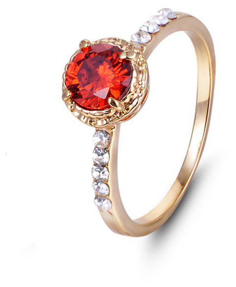 Large Stone Artificial Diamond Rings - RED US SIZE 7