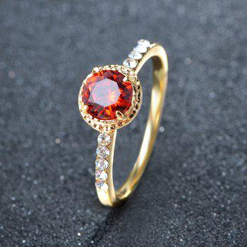Large Stone Artificial Diamond Rings - RED US SIZE 9
