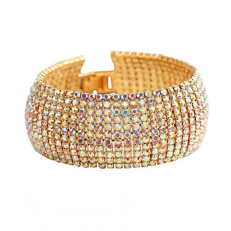 Creative Fashion Diamond Crystal Claw Chains Bracelet - GOLD