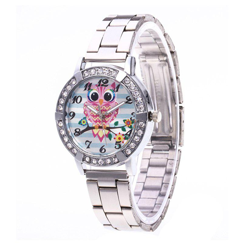 Cartoon Owl Steel Band Watch - SILVER