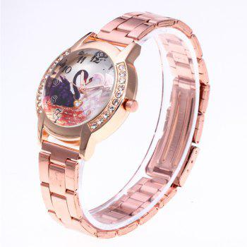 Love Swan Steel Band Watch - ROSE GOLD