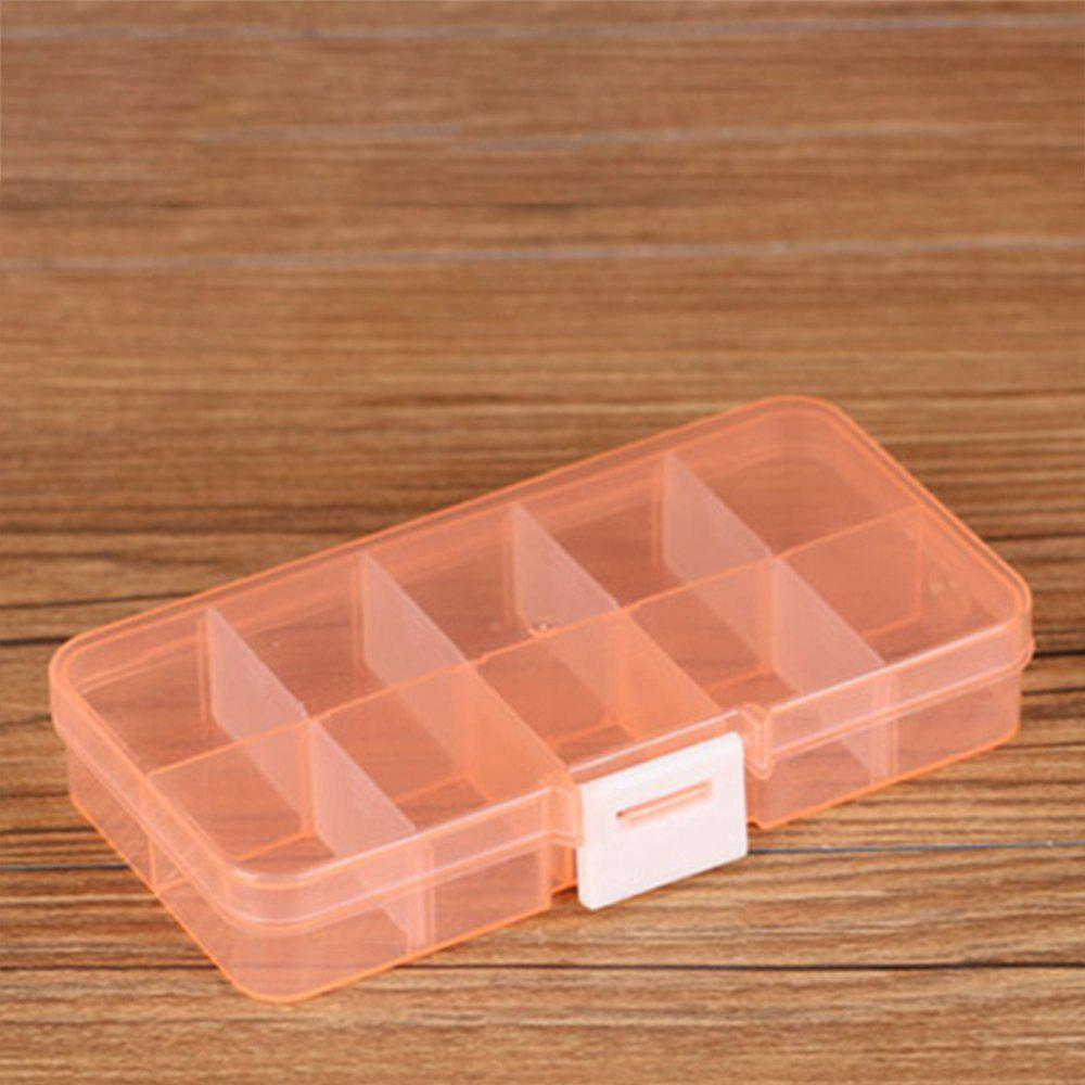Plastic Transparent Jewelry Storage Box - TANGERINE