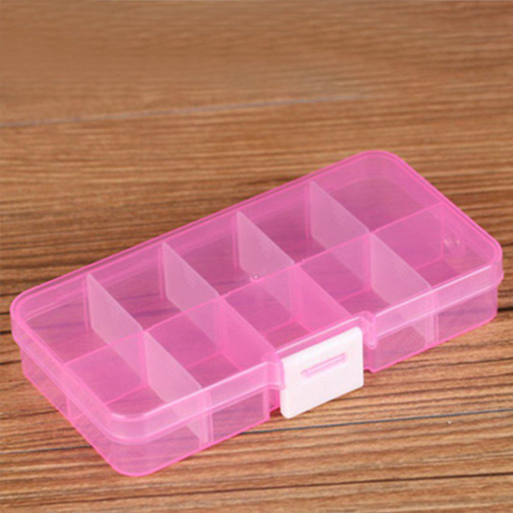 Plastic Transparent Jewelry Storage Box - HOT PINK