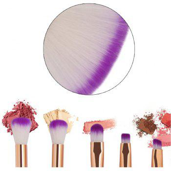 10 Colorful Shell Eye Mermaid Beauty Makeup Brushes - multicolor