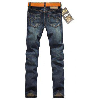 2018 New Men's Vintage Jeans Men's Wild Straight Slim Trousers - JEANS BLUE 38