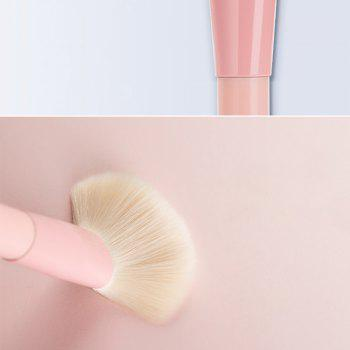 12pcs Gradient Color Makeup Brushes with Canister - PINK BUBBLEGUM