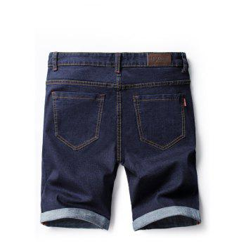 Summer Fashion Casual Men's Denim Shorts - DENIM DARK BLUE 29