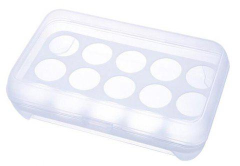 Kitchen 15 Grids Egg Storage Box - WHITE