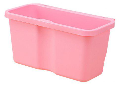 Kitchen Plastic Hanging Trash Can - LIGHT PINK SMALL