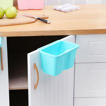 Kitchen Plastic Hanging Trash Can - ELECTRIC BLUE SMALL