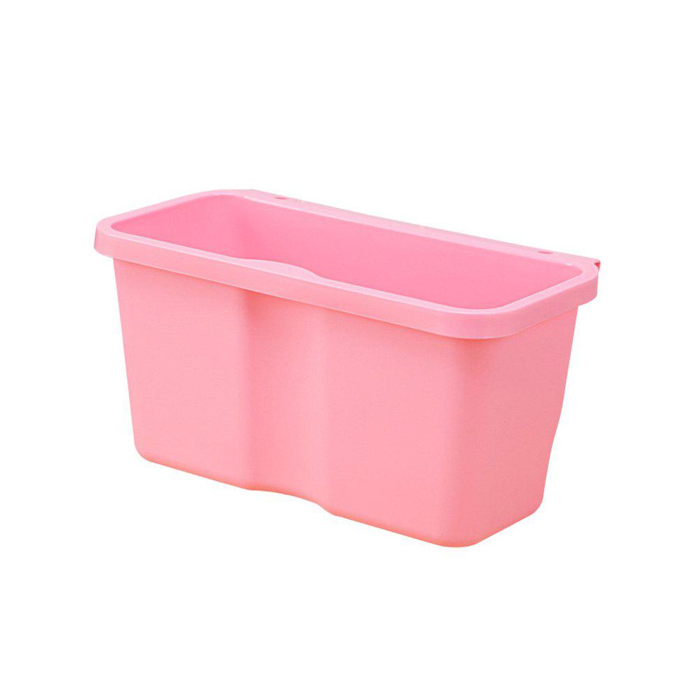 Kitchen Plastic Hanging Trash Can - LIGHT PINK LARGE